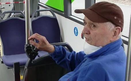 Reacția unui bătrân, prins în autobuz după ora 13.00: \
