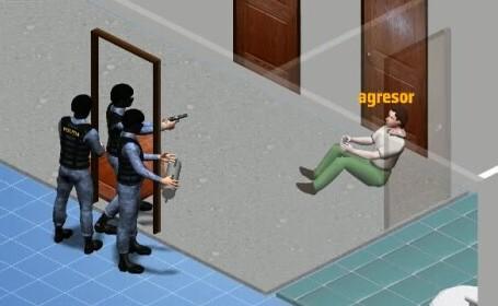Crimele din Onești, animație grafică. Cum a fost împușcat agresorul de forțele speciale