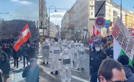 Proteste la Viena
