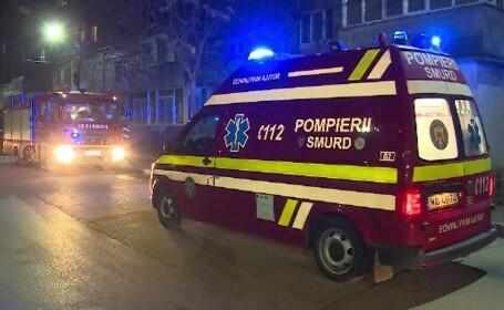 Incendiu violent într-un bloc din Găești. Toți locatarii, evacuați de teama unei explozii