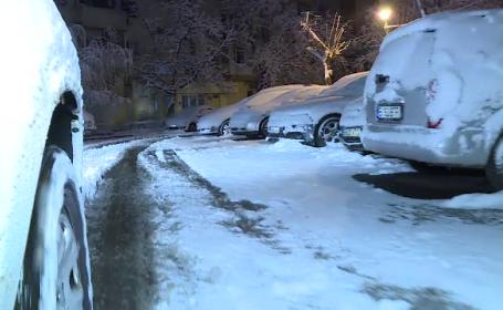Iarna a revenit în forță în mare parte din țară. Strat gros de zăpadă în Capitală