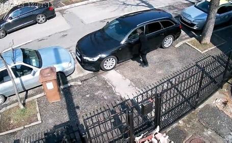 VIDEO. Femeie filmată în timp ce zgârie mașinile parcate pe o stradă din Pitești