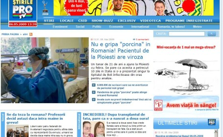 Stirileprotv.ro, liderul site-urilor de stiri din Romania si in aprilie!
