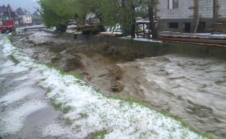 Mai multe gospodarii din Bistrita-Nasaud, inundate in urma ploilor!