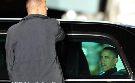 Obama in limuzina