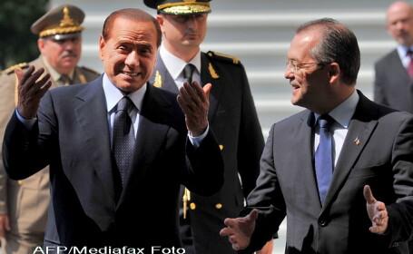 Silvio Berlusconi si Emil Boc
