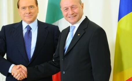 Silvio Berlusconi la Bucuresti: Italia sustine Romania pentru aderarea la spatiul Schengen