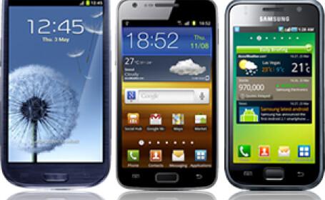 Galaxy S III vs. Galaxy S II vs. Galaxy S