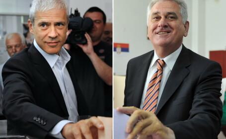 Boris Tadic (s) si Tomislav Nikolic