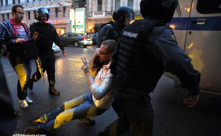 50 de protestatari rusi au fost arestati la Moscova in cadrul unui miting anti-Putin
