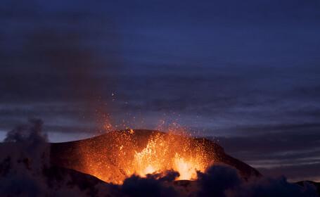 vulcan erupe, Islanda