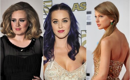 Adele, Katy Perry, Taylor Swift