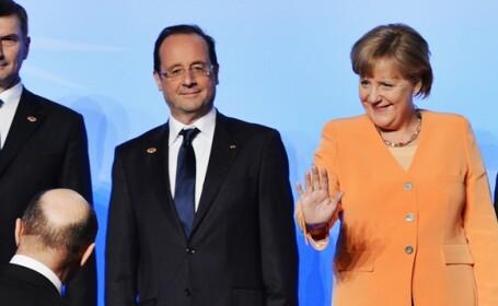 Angela Merkel, Traian Basescu, Francois Hollande