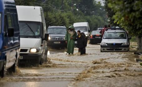 drum inundat,