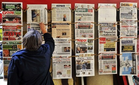 Grecia, Atena, ziare, economie
