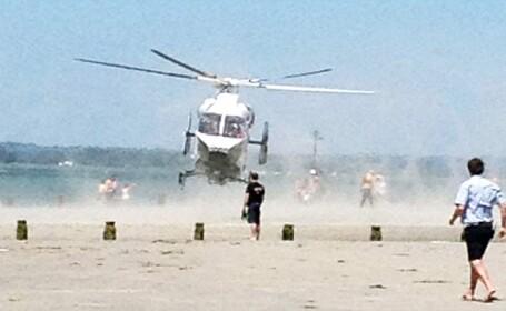 elicopter pe plaja