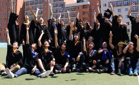 studenti China, facultatea arde