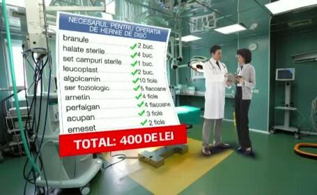 Carton costuri operatie hernie de disc
