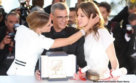 Lea Seydoux, regizorul Abdellatif Kechiche, Adele Exarchopoulos