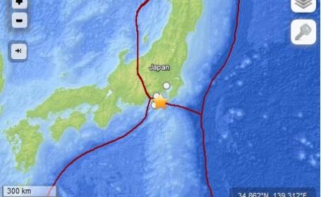 Cutremur cu magnitudinea de 6,2 inregistrat luni dimineata, in estul Japoniei. 11 persoane au fost ranite