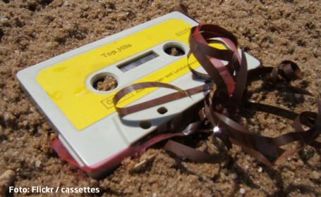 caseta audio ingropata