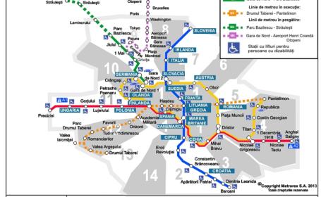 Ziua Europei, sarbatorita prin muzica, dans si cu nume noi pentru statiile de metrou. Cum arata vineri harta metroului