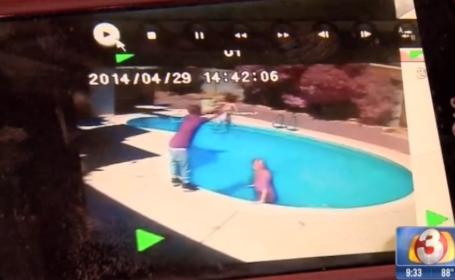 Si-a aruncat fetita in piscina ca sa o invete o lectie. Pedeapsa primita in inchisoare de un tata violent