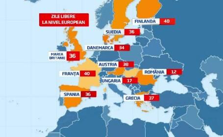 Ofertele de Rusalii pentru romanii care vor sa isi ia o mica vacanta. Harta tarilor din UE dupa numarul de zile libere