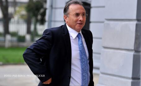 Gheorghe Nichita zambind la intrarea in sediul PSD