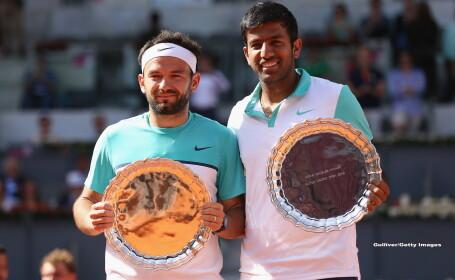 Florin Mergea si indianul Bopanna au castigat probla de dublu a turneului de la Madrid