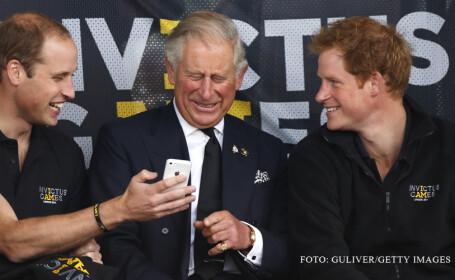 printii William, Charles si Harry razand FOTO GETTY
