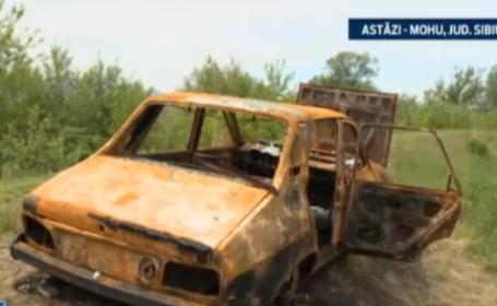 Ce au descoperit oamenii intr-o masina care a ars acum o saptamana, in Sibiu. \