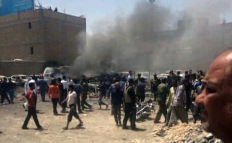 33 de morti si 75 de raniti intr-un dublu atentat comis in sudul Irakului. Statul Islamic a revendicat atacul