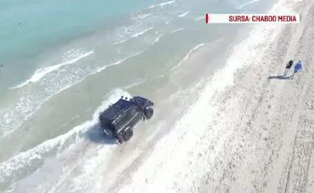 Soferii din Bucuresti care au ajuns cu masinile pe plaja si-au aflat amenda. Amandoi au primit suma maxima