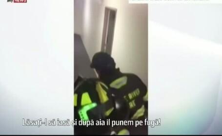 Pompierii din SUA, chemati sa goneasca un urs care a atacat frigiderul unei familii. L-au pus pe fuga cu tipete