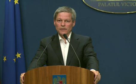 Dacian Ciolos, conferinta Guvern