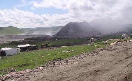 incendiu la groapa de gunoi din Cluj