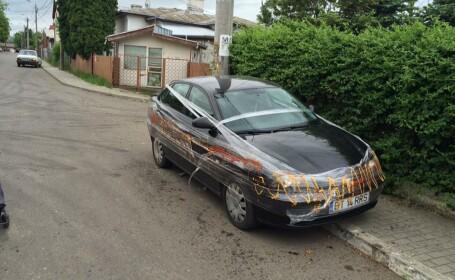 Surpriza neplacuta avuta de un sofer care a ocupat alt loc de parcare. Cum si-a gasit masina dupa cateva ore. FOTO