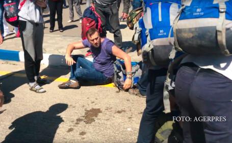 Alexei Navalnii atacat de cazaci
