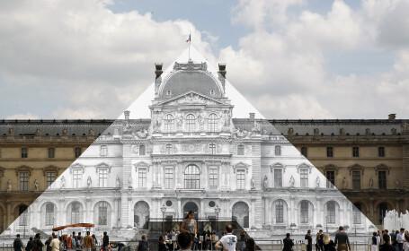 Cum a disparut piramida de sticla din curtea Muzeului Luvru, din Paris
