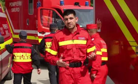 A acceptat provocarea pompierilor si a devenit salvator pentru o zi. Cum a simtit Dragos Bucurenci adrenalina unei misiuni