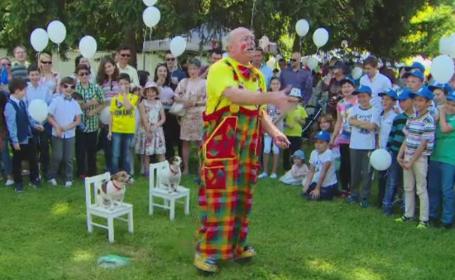 Distractie in curtea Palatului Elisabeta. Peste o mie de copii s-au simtit ca in povesti la petrecerea de Ziua Copilului