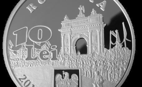 BNR a lansat o noua moneda din argint, cu valoarea nominala de 10 lei. FOTO