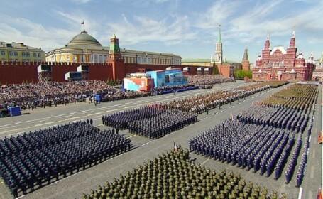 Parada de Ziua Victoriei la Moscova cu 10.000 de soldati si peste 100 de vehicule militare. Discursul rostit de Putin