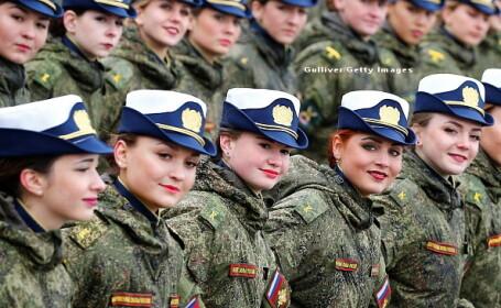 GALERIE FOTO cu cele mai impresionante momente ale paradei militare din Piata Rosie din Moscova. Cine a stat langa Putin