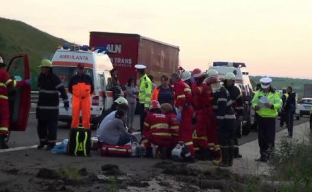 accident, microbuz, copii, Autostrada Sibiu-Orastie
