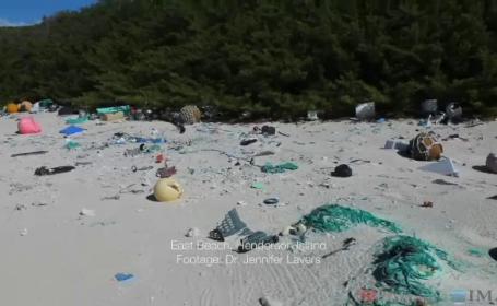 Cel mai poluat loc din lume. Insula unde plajele sunt acoperite de 17 tone de deseuri