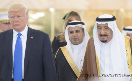 Donald Trump in vizita in Arabia Saudita