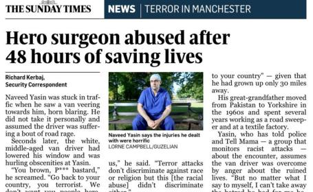 Medic musulman, abuzat pe strada dupa ce a tratat victimele atacului din Manchester: \