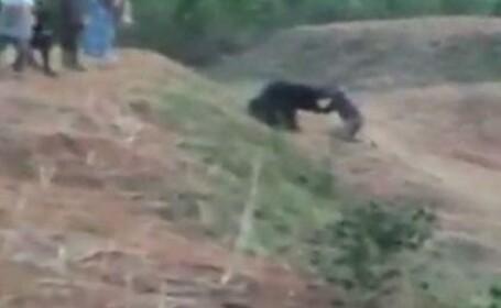 Momentul șocant în care un bărbat a fost ucis de ursul cu care a vrut să-și facă un selfie. VIDEO